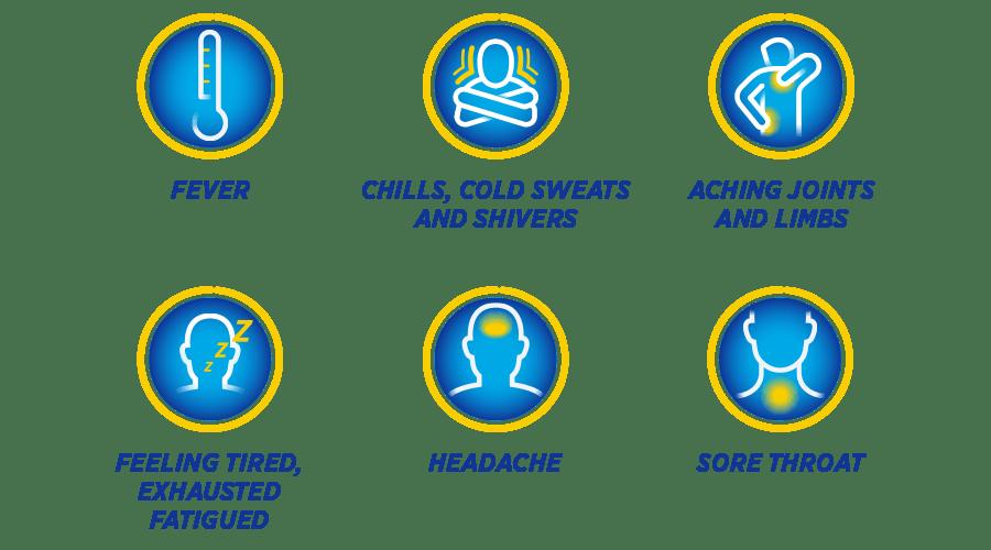 Flu Symptoms graphic table