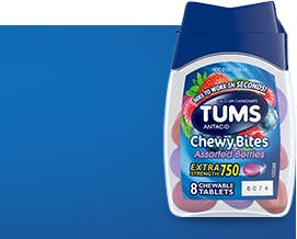 TUMS Chewy Bites 8 Count Assorted Berries