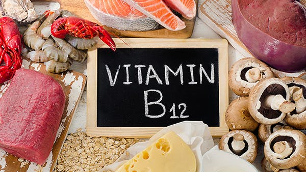 Meats, mushrooms, oats and dairy that contain vitamin b12