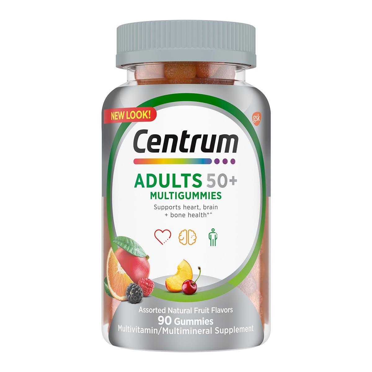 Bottle of Centrum Multigummies Adults 50plus