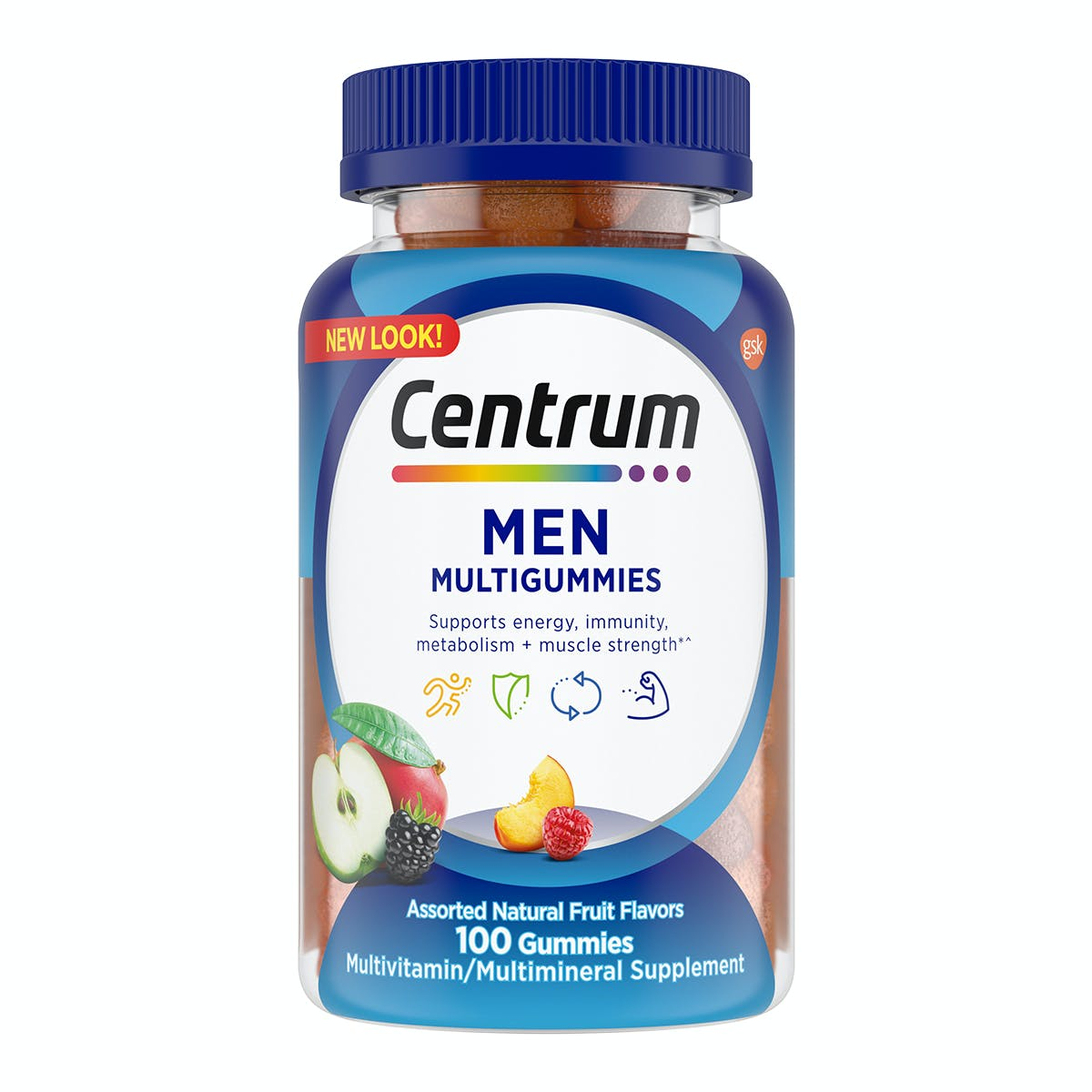 Bottle of centrum MultiGummies for men vitamins