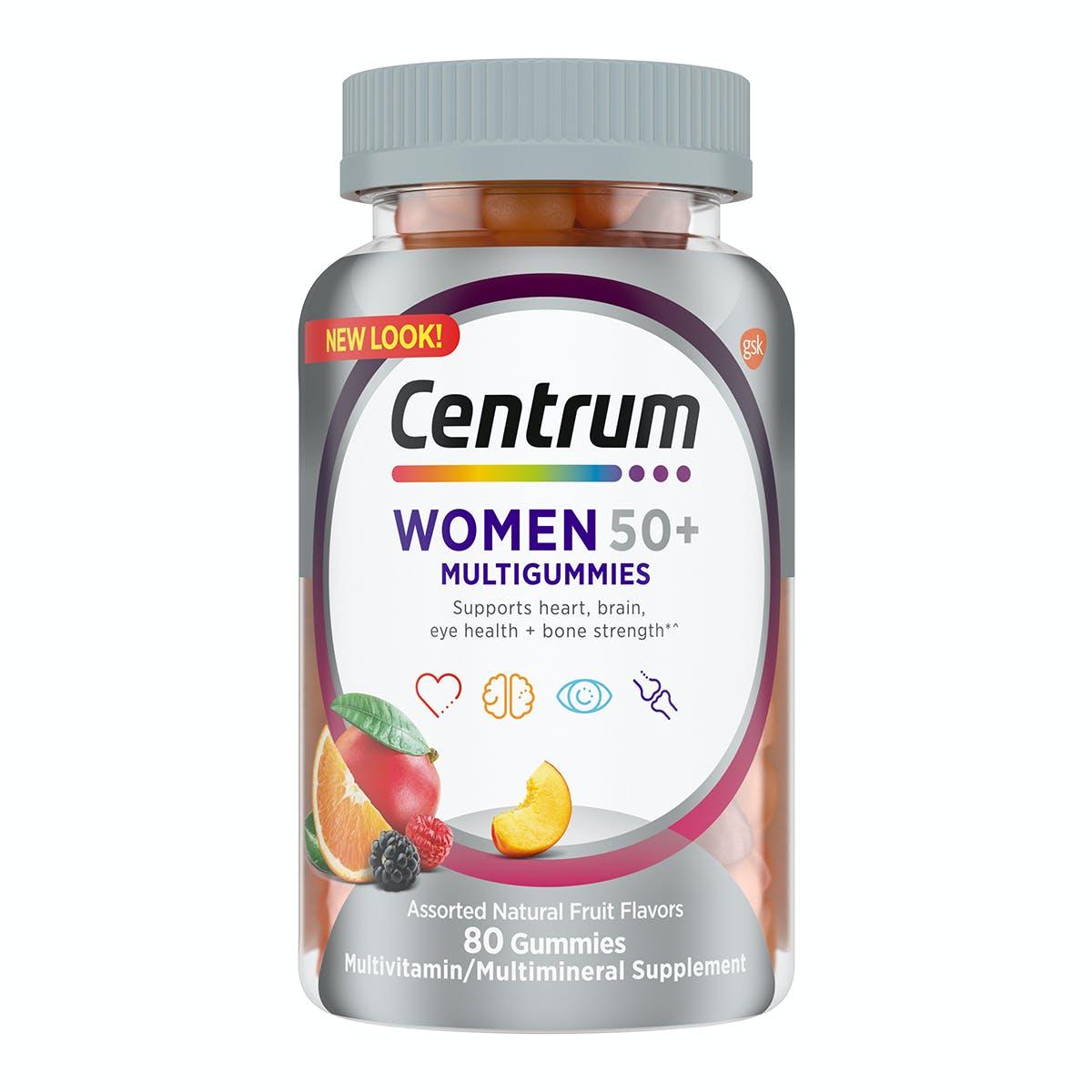 Bottle of Centrum MultiGummies Women 50plus