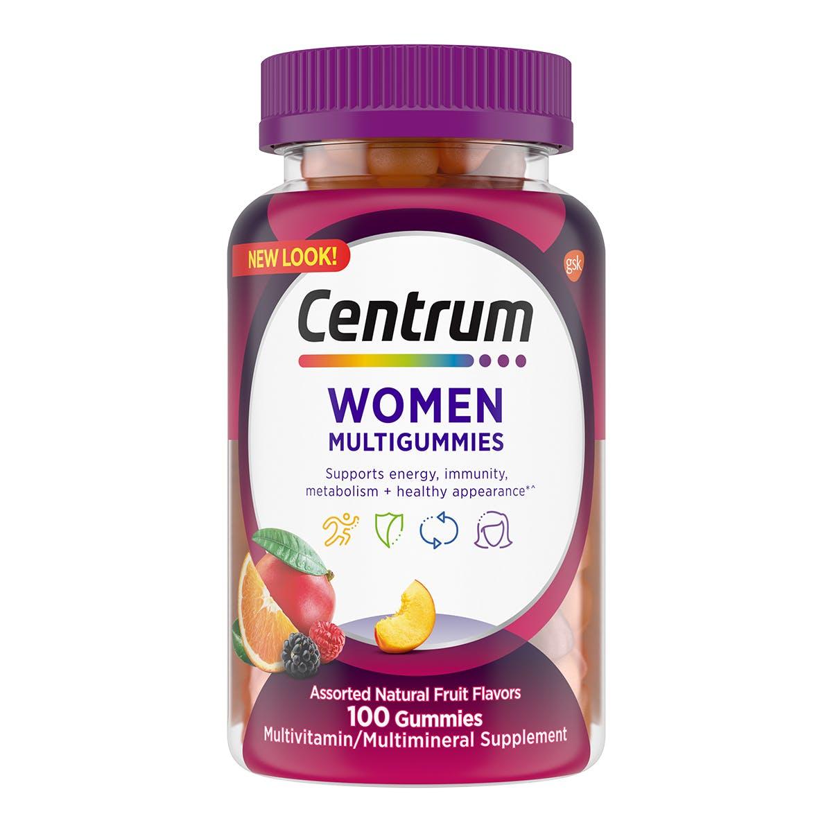 Bottle of Centrum MultiGummies Women vitamins