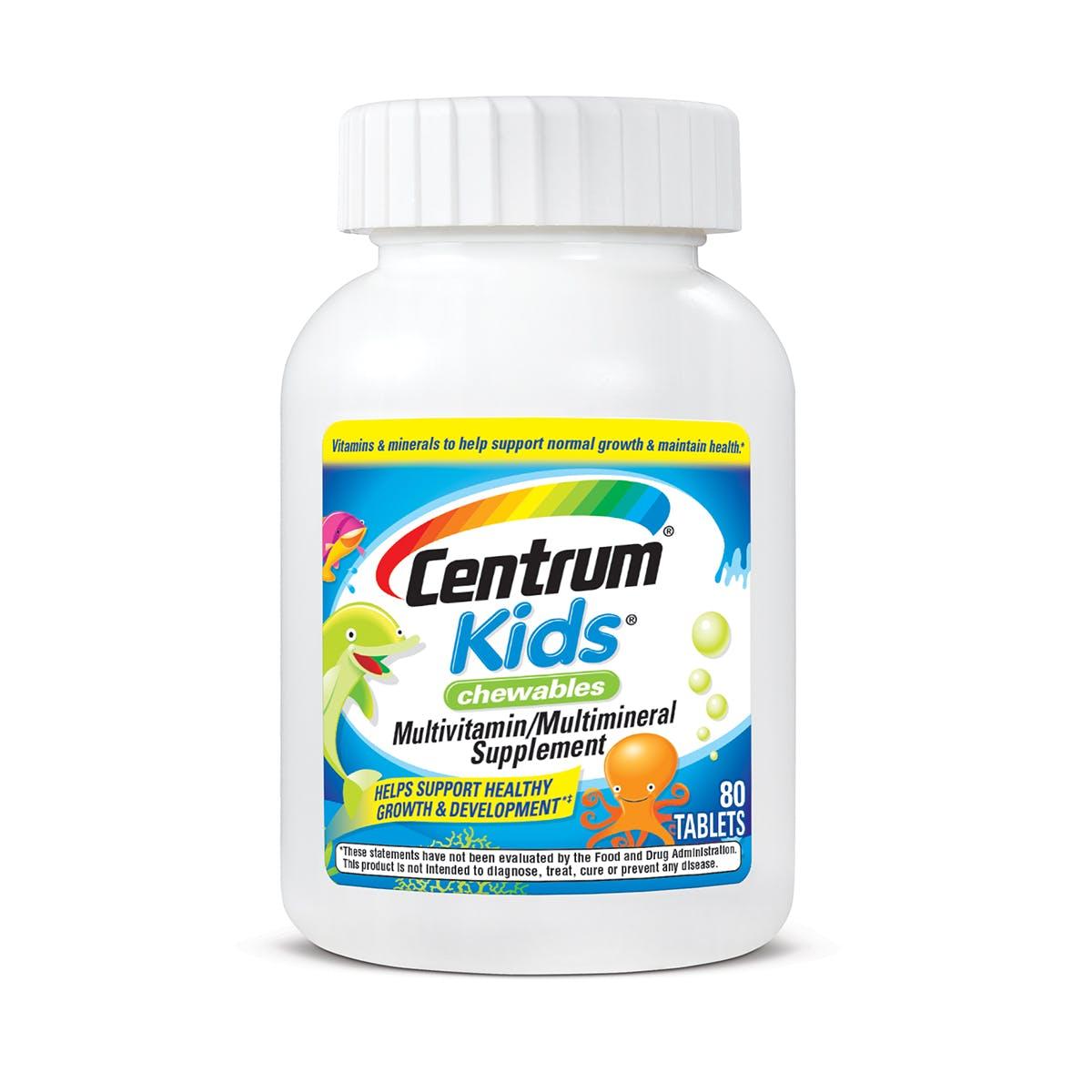 Bottle of Centrum Kids multivitamins