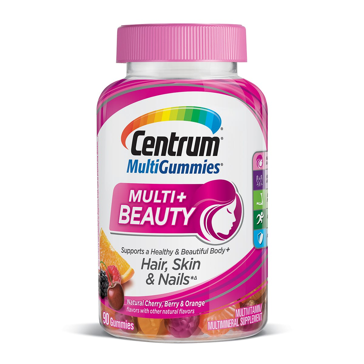 Bottle of Centrum MultiGummies Multi plus Beauty multivitamins