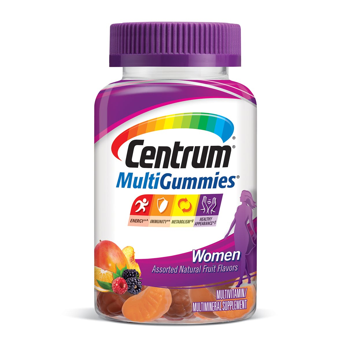 Bottle of Centrum MultiGummies Women vitamins