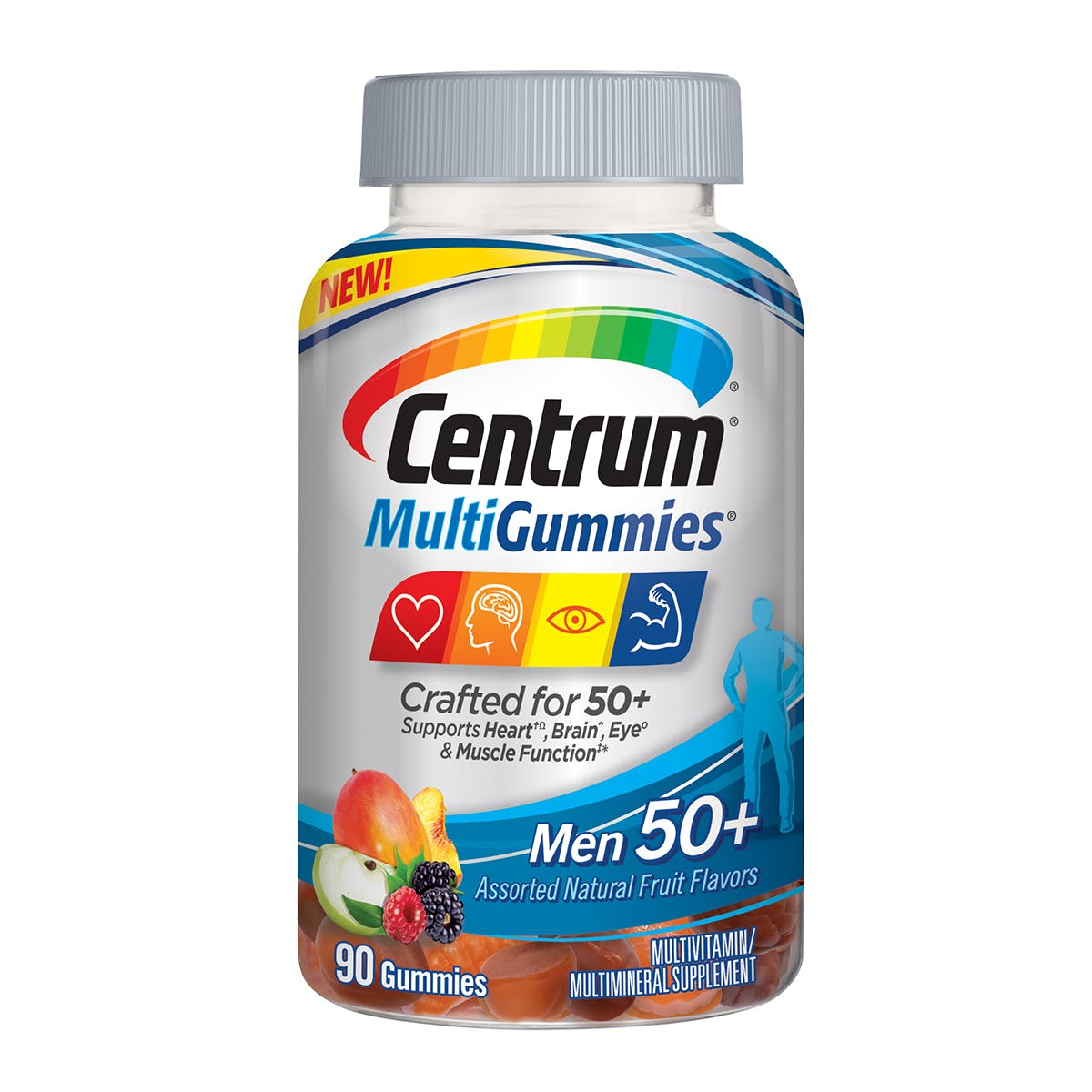 Bottle of centrum MultiGummies Men 50plus vitamins