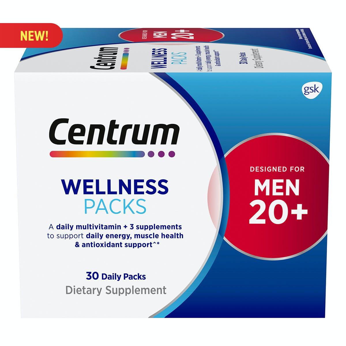 Centrum Wellness Packs Men 20+