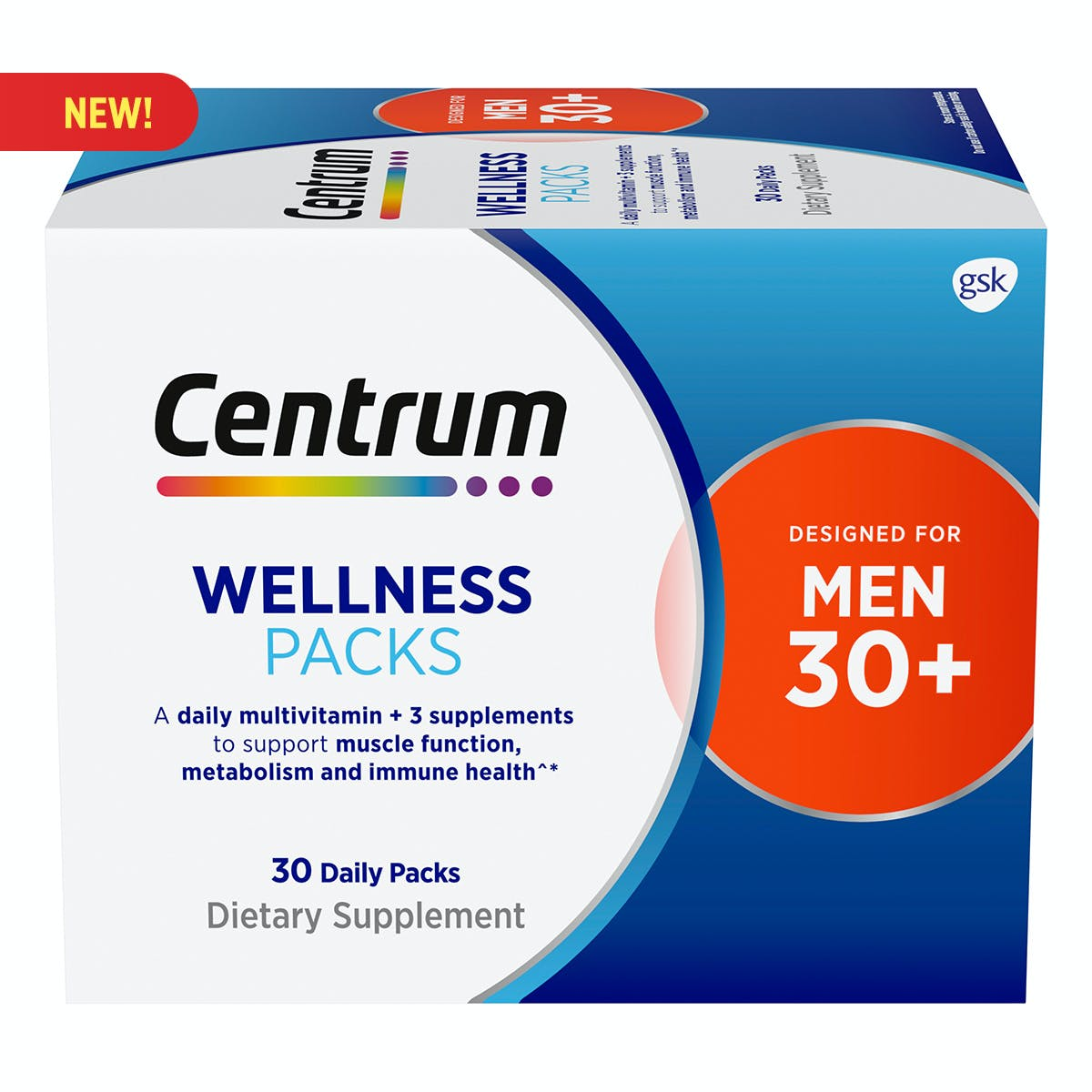 Centrum Daily Vitamin Packs Men 30+