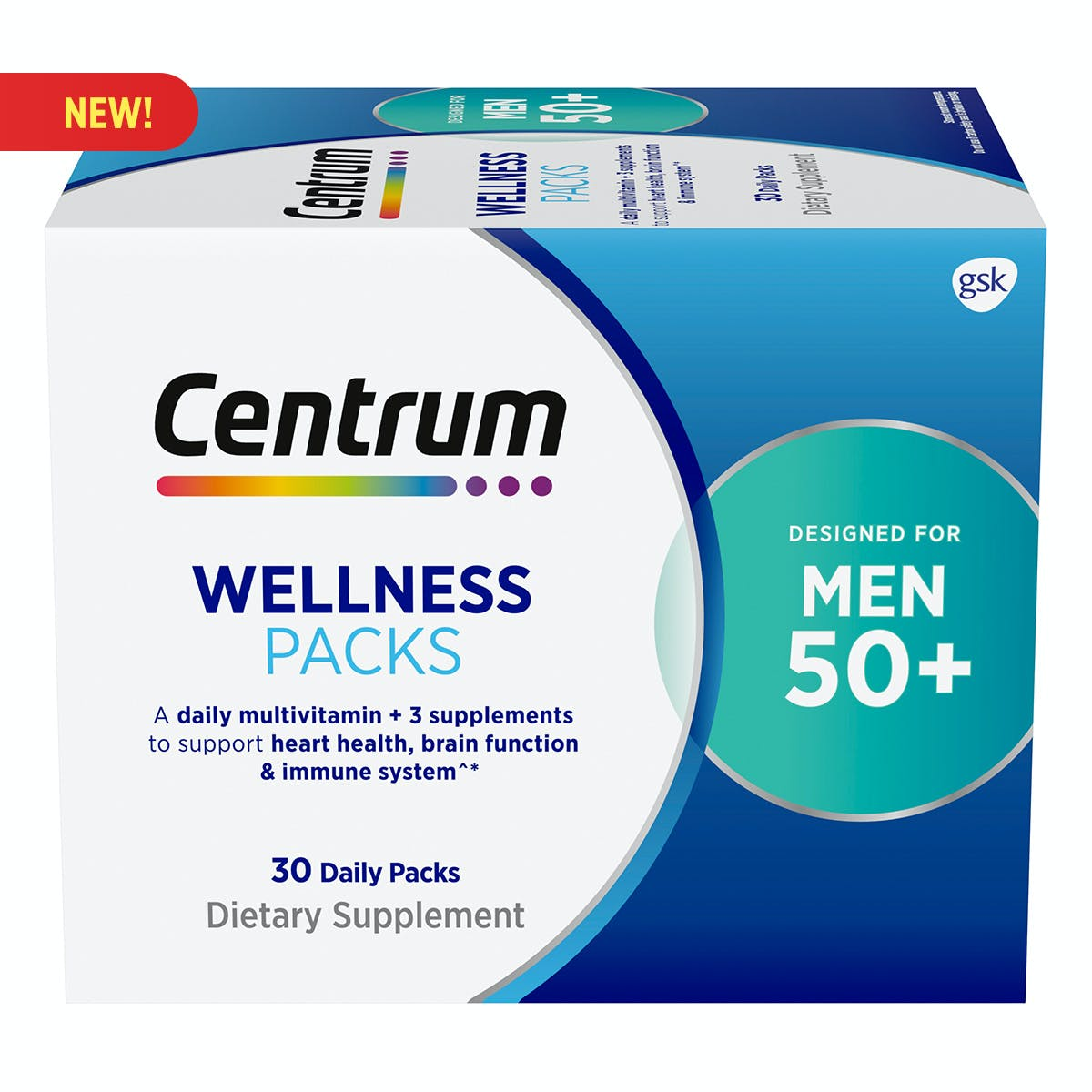 Centrum Daily Vitamin Packs Men 50+