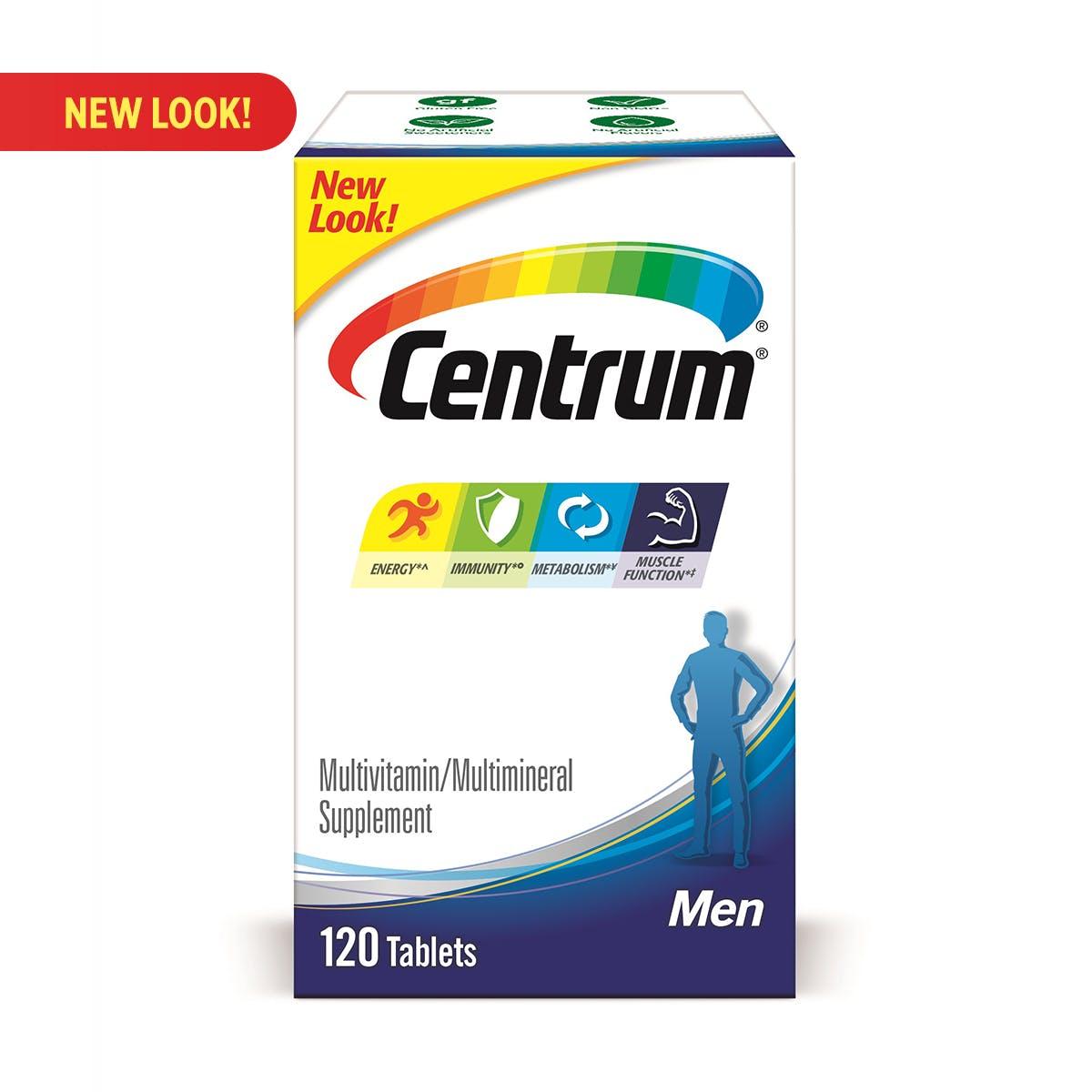 Box of Centrum Men multivitamins