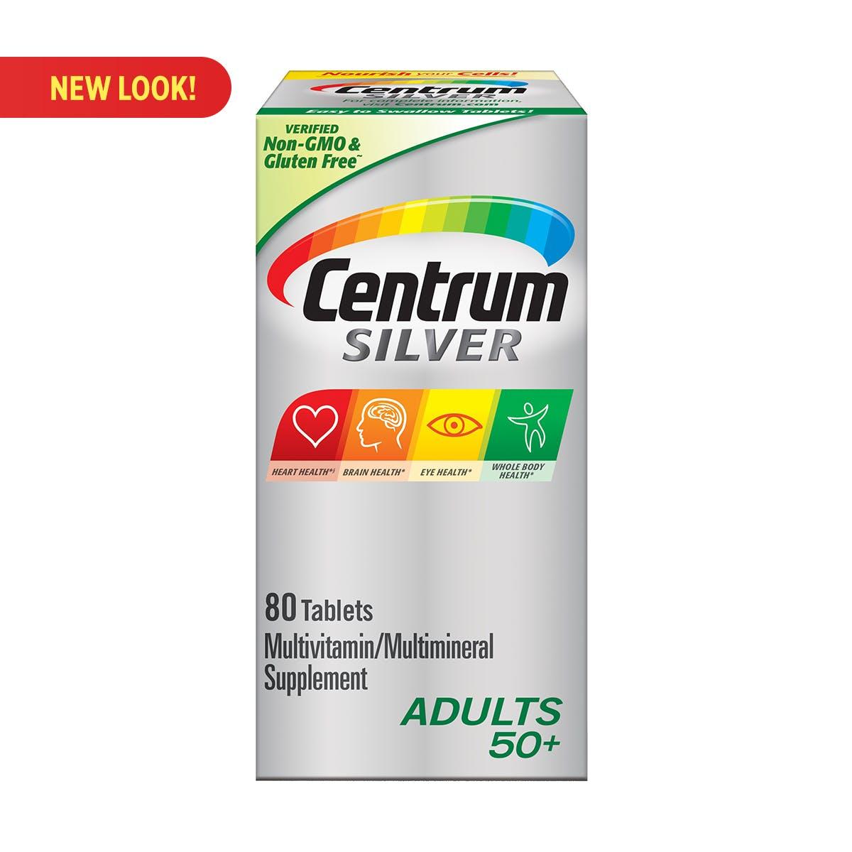 Box of Centrum Silver Adults multivitamins