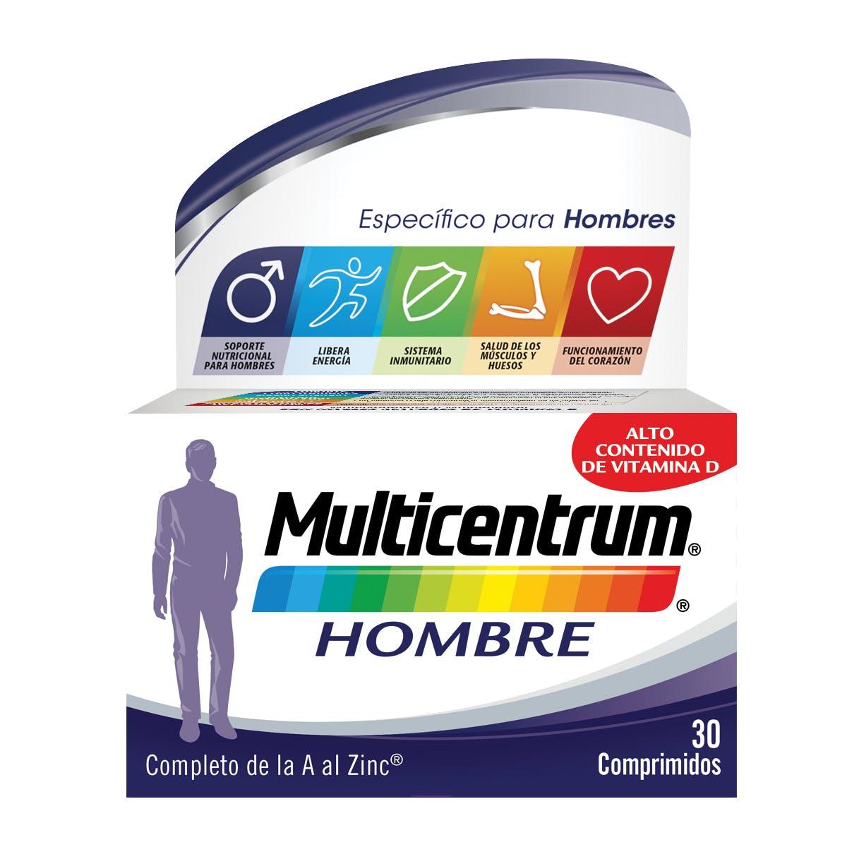 Bote Multivitaminas para Hombre - Multicentrum