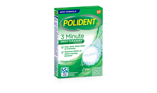 polident 3 minute anti bacterial denture cleanser