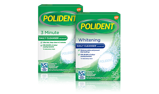 polident cleaning range