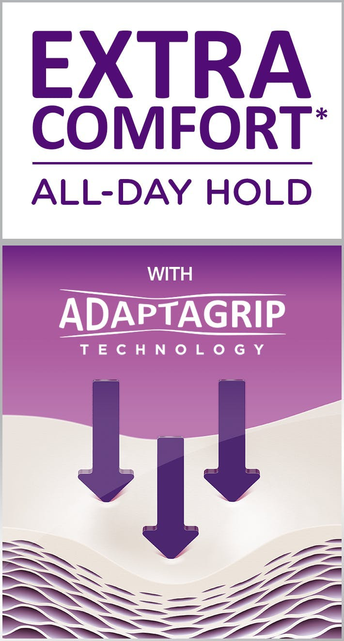 Extra comfort all day hold adaptagrip technology