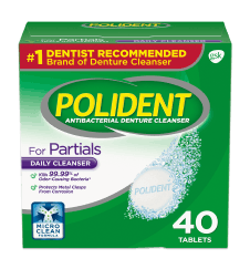Polident for partial dentures daily cleanser pack shot