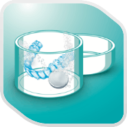 Denture care step icon