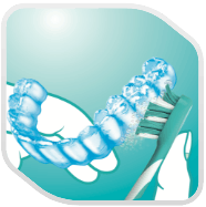 retainer and cleaning icon