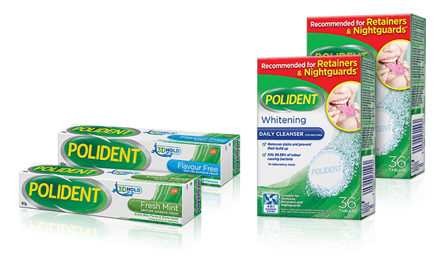 Polident/Poligrip product range