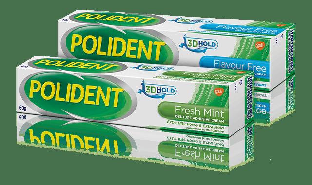 polident adhesives range