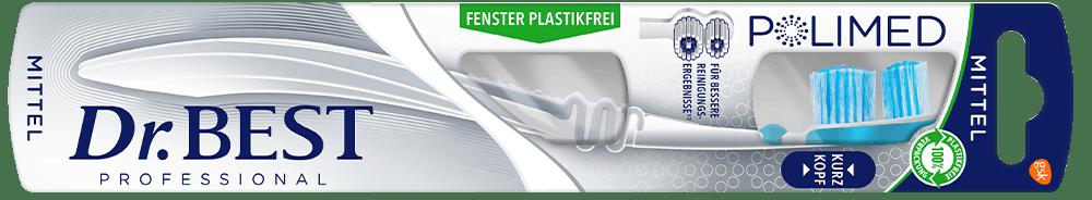 Packung der Dr.BEST Polimed Kurzkopf Zahnbürste