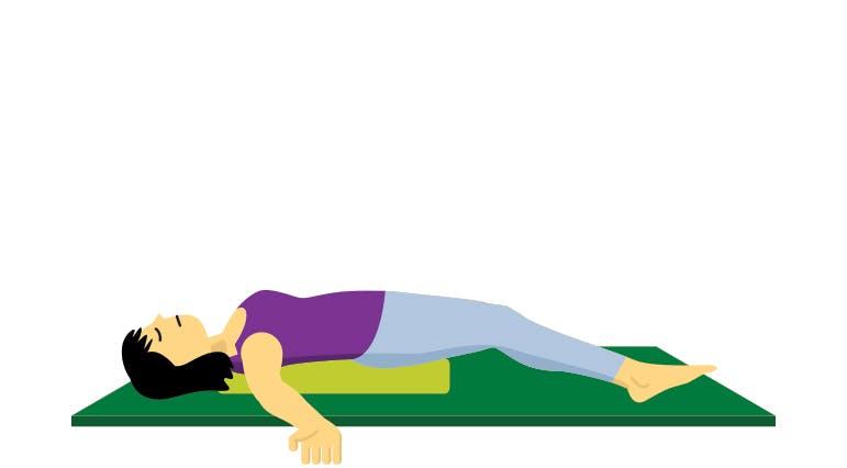 Supine Chest and Shoulder Stretch Illustration