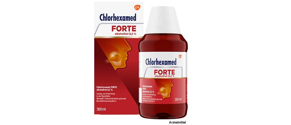 Chlorhexamed Forte alkoholfrei 0,2 % Mundspülung – Pack-Shot