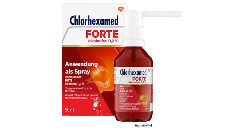 Chlorhexamed Forte alkoholfrei 0,2 % angewendet als Spray