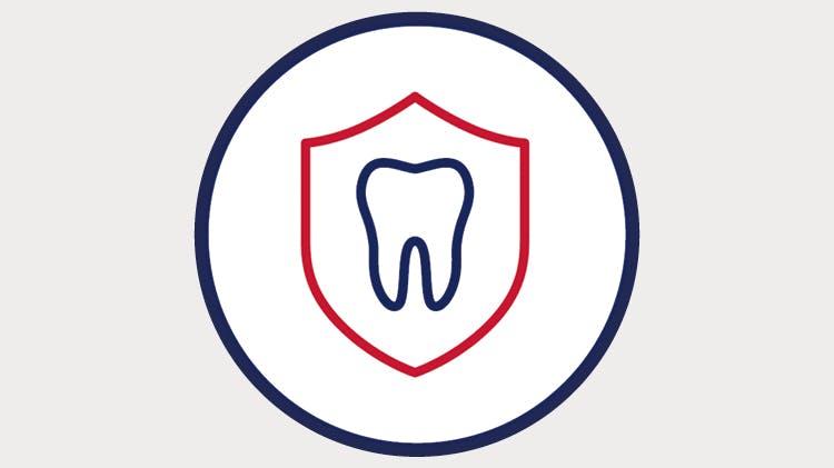Schutzschild für den Zahn