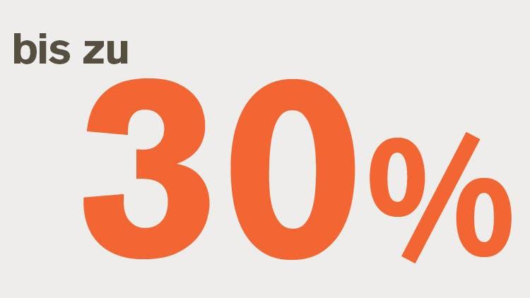 Bis zu 30% Symbol