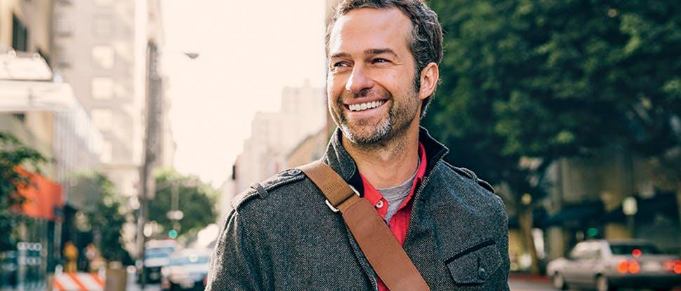 Man Street Smiling