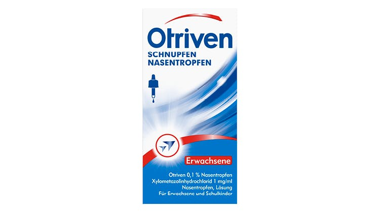 Otriven gegen Schnupfen 0,1 % Nasentropfen Packshot
