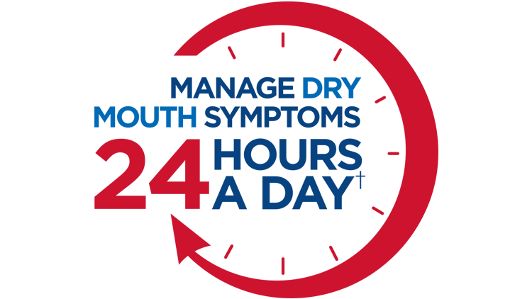 Biotène manages Dry Mouth symptoms 24 hours a day