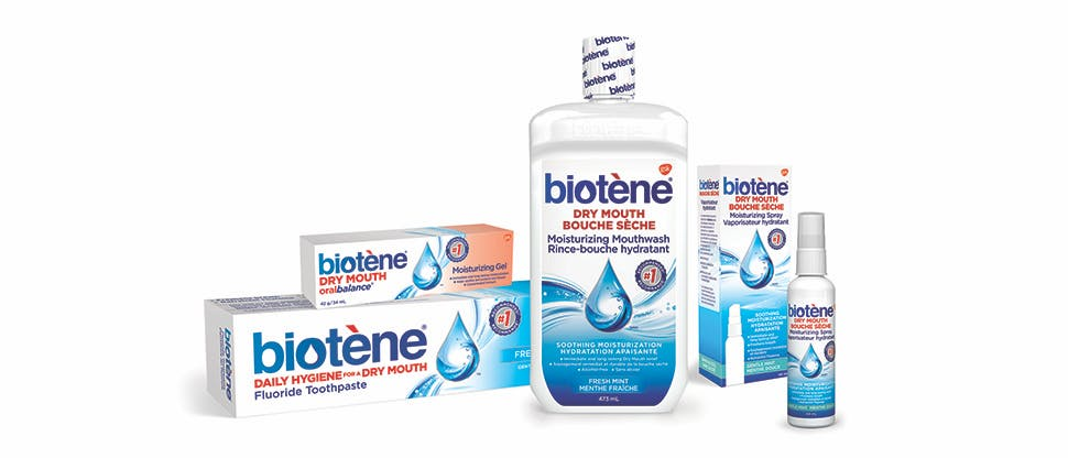 Biotene Dry Mouth oralbalance Moisturizing gel and Biotene Dry Mouth Moisturzing mouthwash