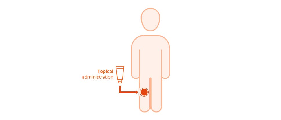 Low systemic absorption with topical administration