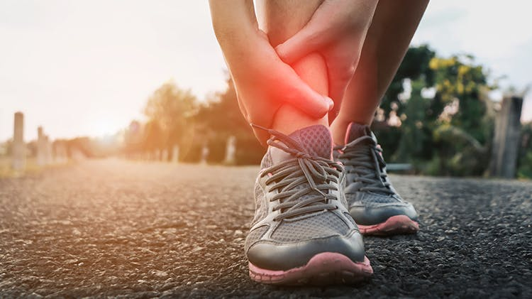 Runner with ankle pain