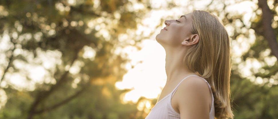Woman enjoying outdoors