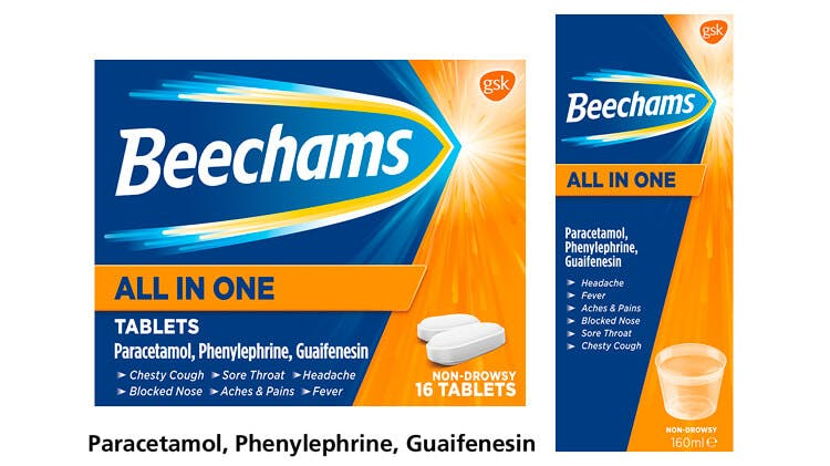 Beechams All in One range pack-shot
