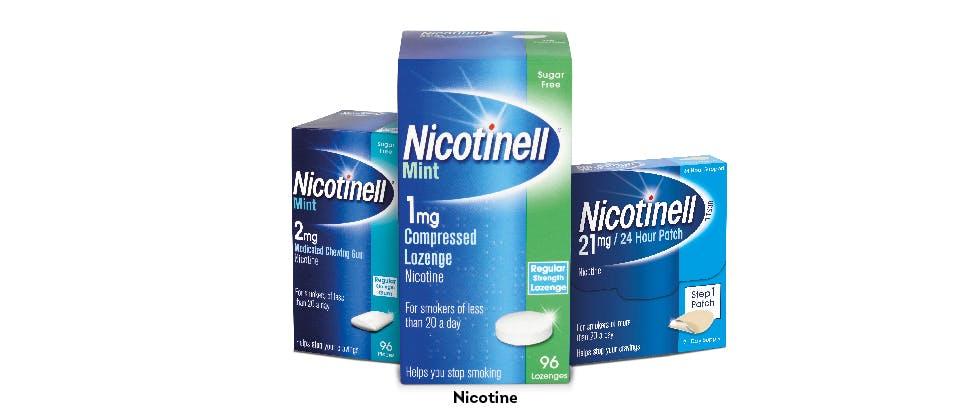 Nicotinell product range