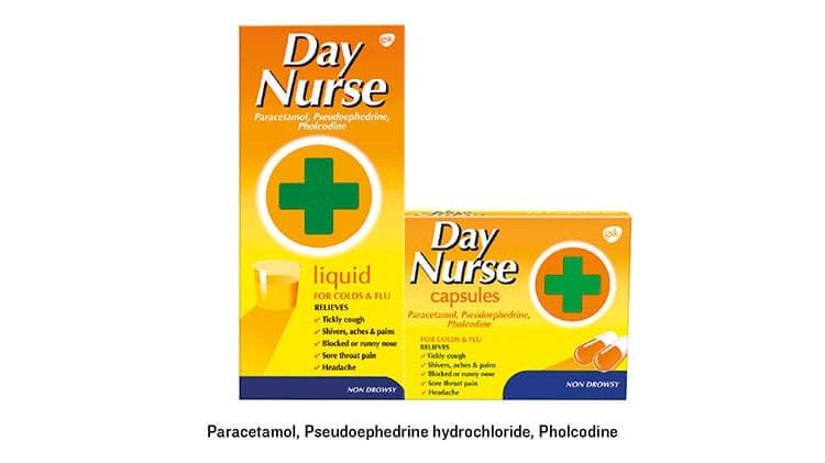 Day Nurse capsules + liquid pack-shot