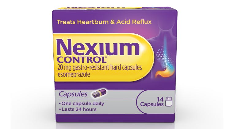Nexium Control capsules pack shot