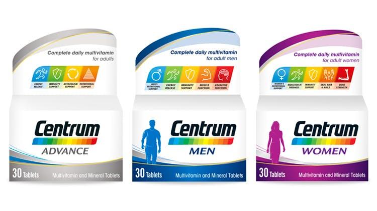 Centrum multivitamin range for adults