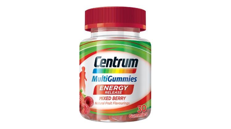 Centrum multivitamin range for energy release