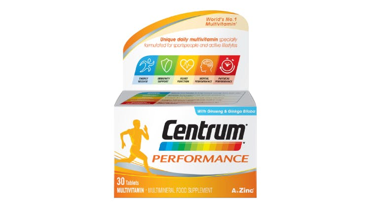 Centrum multivitamin range for performance