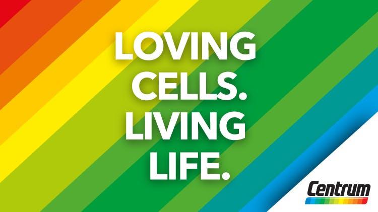 Loving cells living life icon