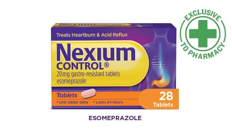 Pack of Nexium Control 28 tablet capsules