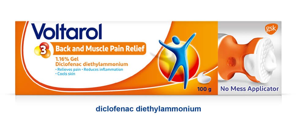 Voltarol Back and Muscle Pain Relief pack