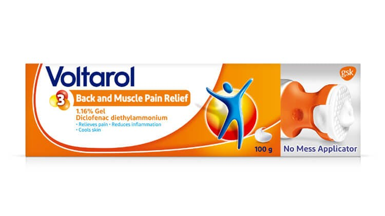 Voltarol Back and Muscle Pain Relief 1.16% Gel