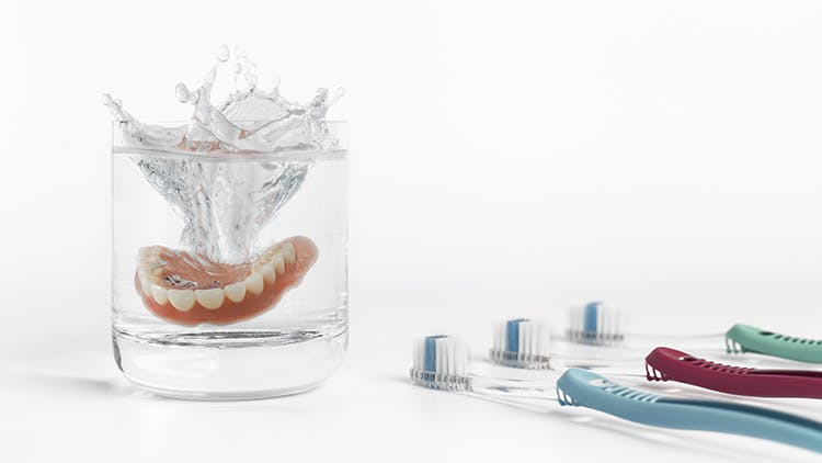 Daily denture care at home